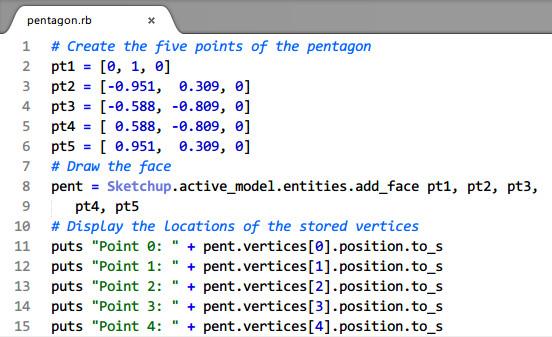No.14_SketchUp Ruby基础-第二章 在三维坐标中创建图形